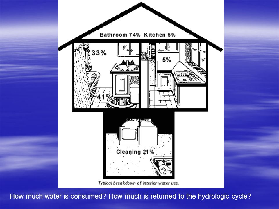 How much water is consumed? How much is returned to the hydrologic cycle?