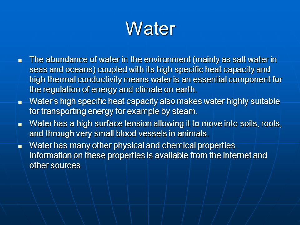 Freshwater vs saltwater The distinction between freshwater and saltwater is an important consideration in water statistics.