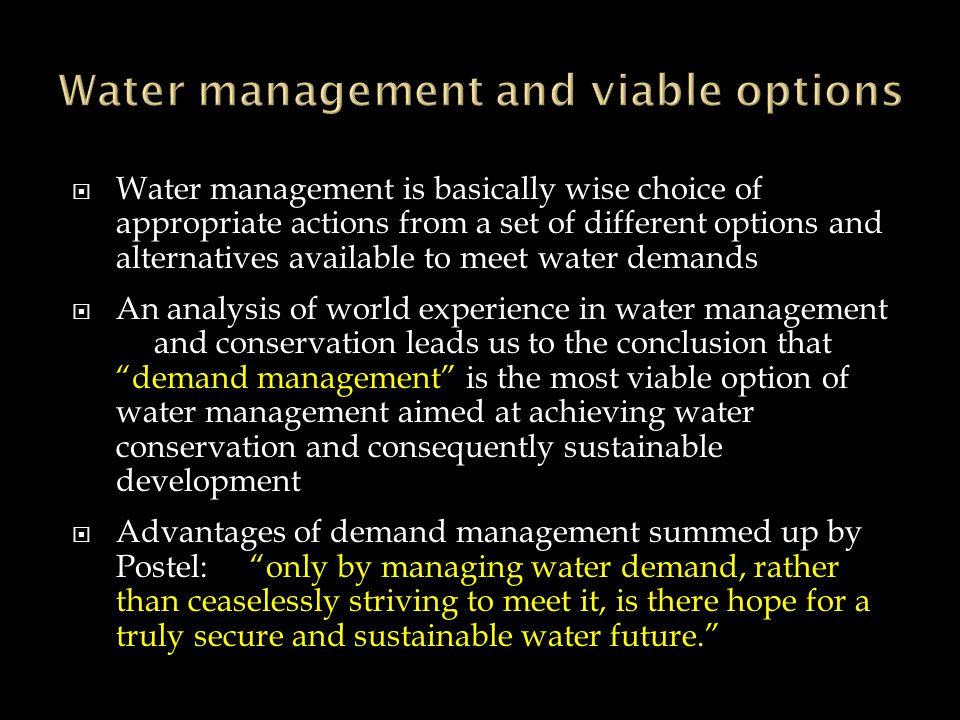 The Dublin statement on water and sustainable development: Scarcity and misuse of fresh water pose a serious and growing threat to sustainable develop