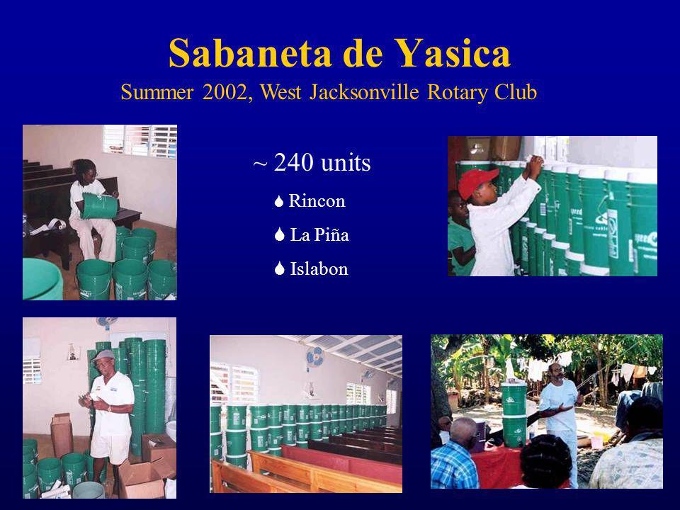Sabaneta de Yasica Summer 2002, West Jacksonville Rotary Club ~ 240 units Rincon La Piña Islabon
