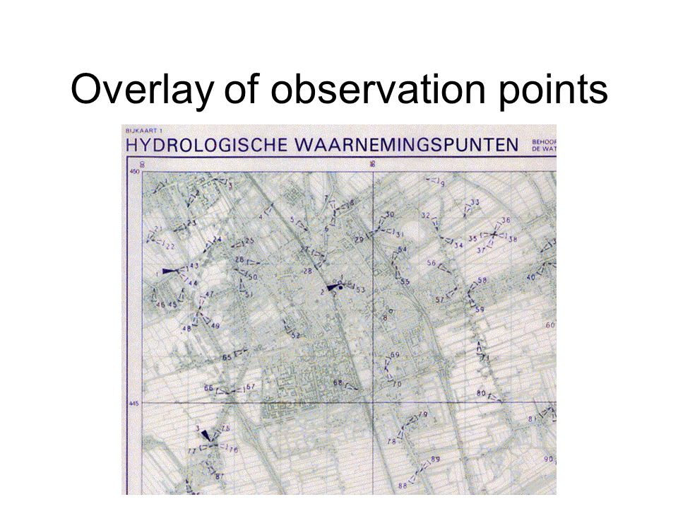 Overlay of observation points