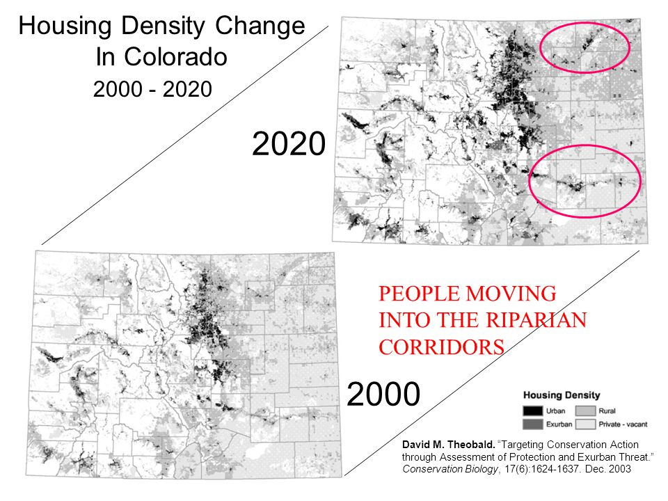 Housing Density Change 1960 - 2050 (C.U.
