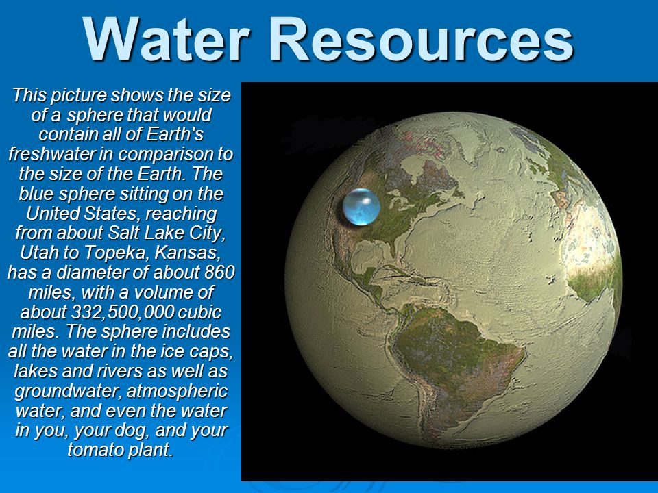 The Hydrosphere Includes all of the water on or near the Earths surface (oceans, lakes, rivers, polar icecaps, groundwater, & clouds) Includes all of the water on or near the Earths surface (oceans, lakes, rivers, polar icecaps, groundwater, & clouds)
