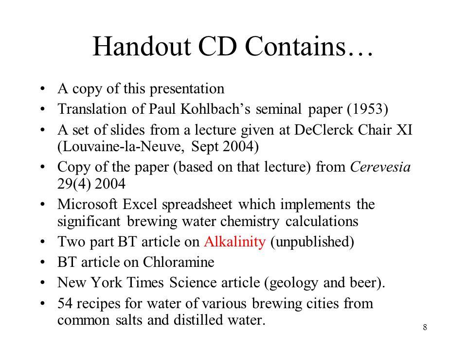 109 Part -XX Comparison Beer