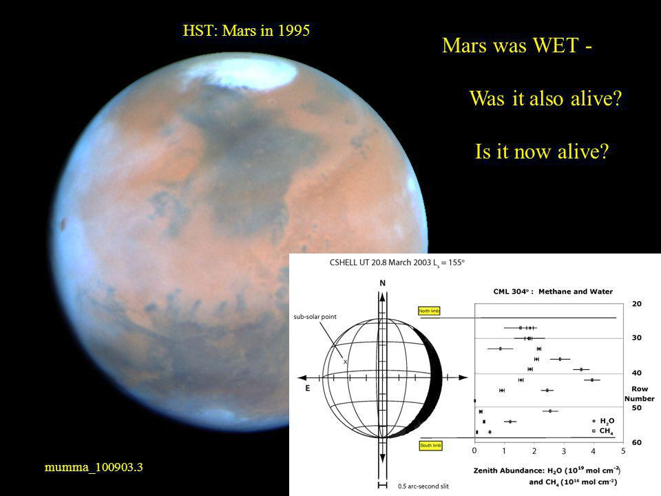 Mars was WET - Was it also alive Is it now alive HST: Mars in 1995 mumma_100903.3