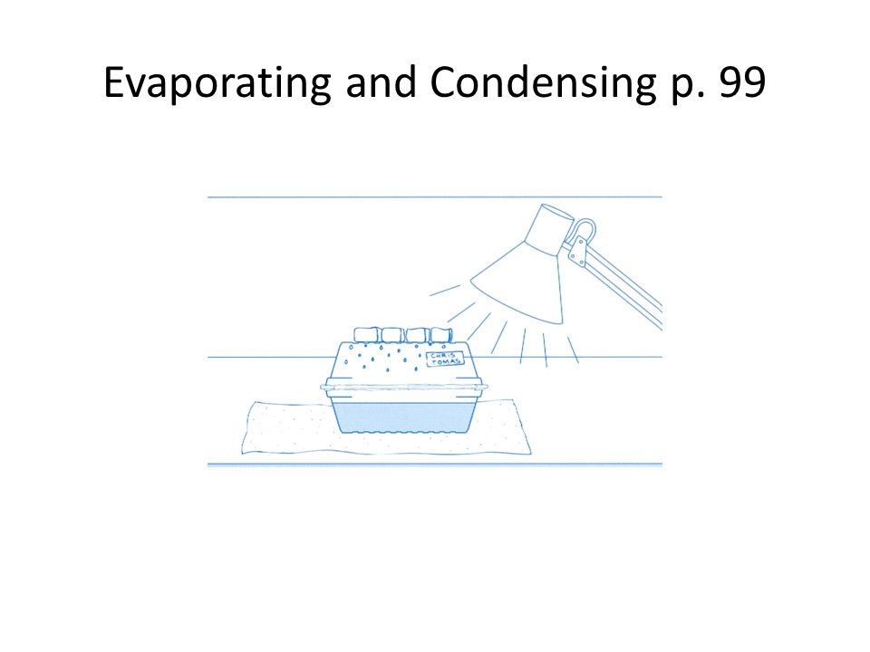 Evaporating and Condensing p. 99