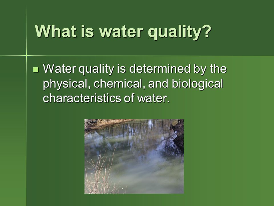 What is water quality.