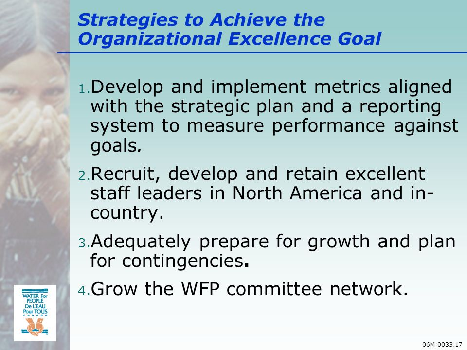 06M-0033.17 Strategies to Achieve the Organizational Excellence Goal 1.