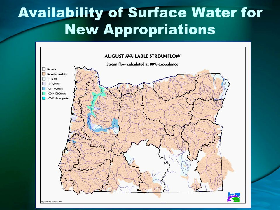 Availability of Surface Water for New Appropriations
