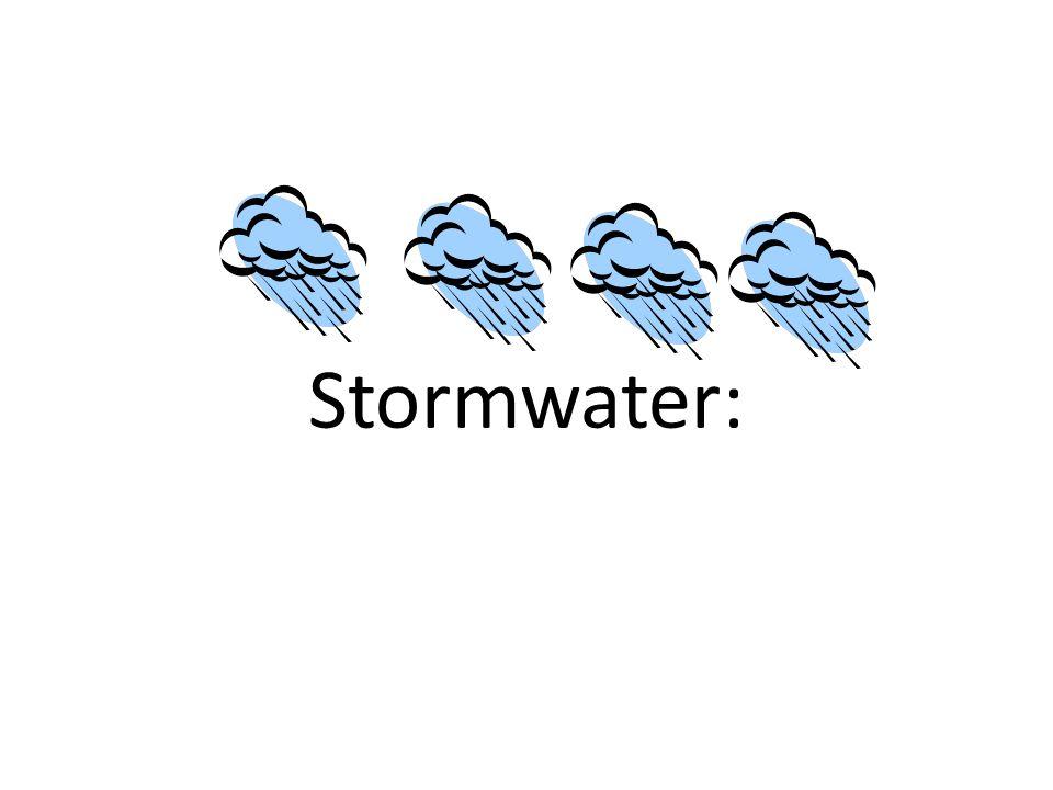 Stormwater: