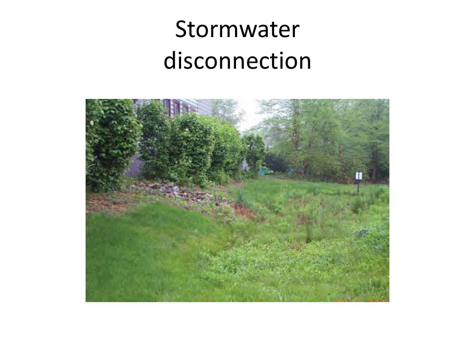 Stormwater disconnection