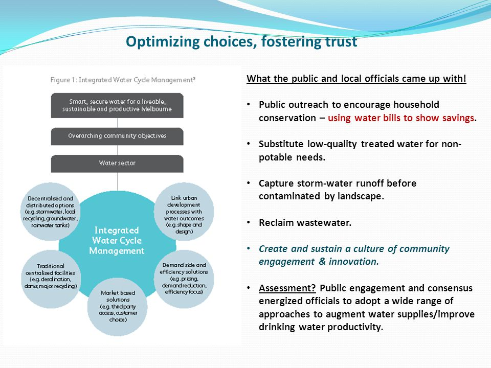 Optimizing choices, fostering trust What the public and local officials came up with.