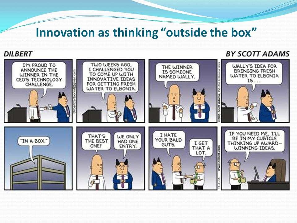 Innovation as thinking outside the box