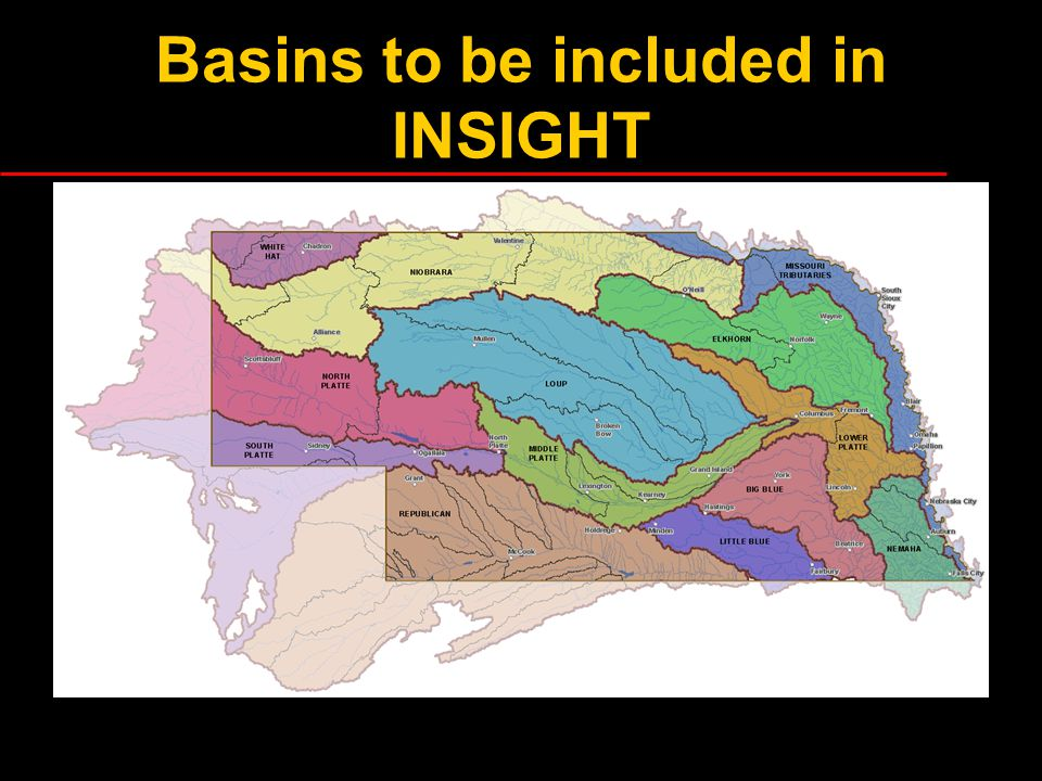 Basins to be included in INSIGHT