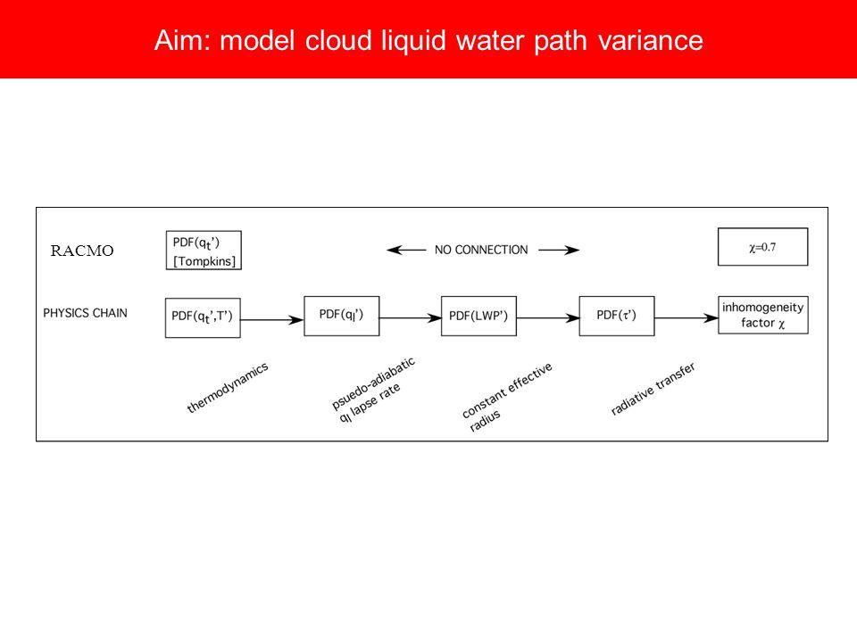 Aim: model cloud liquid water path variance RACMO