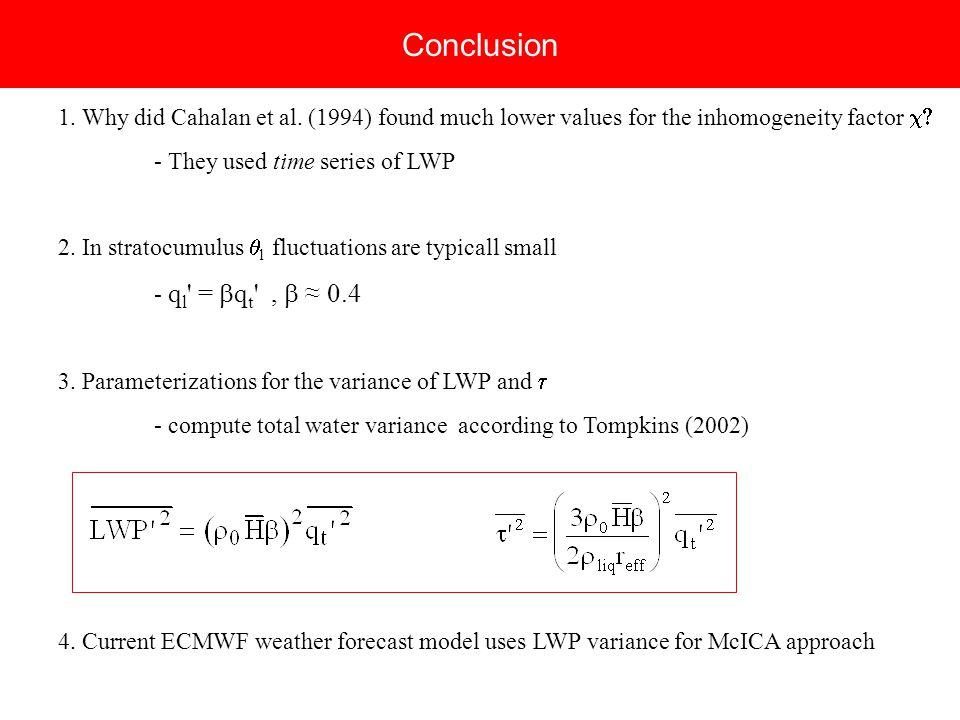 Conclusion 1. Why did Cahalan et al.