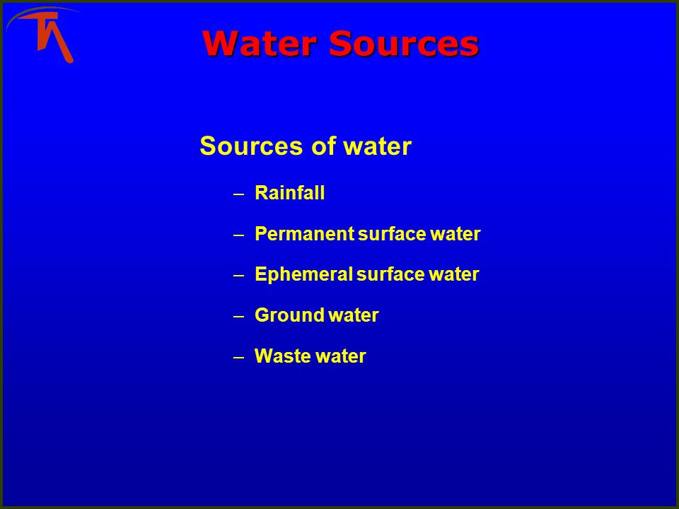 2 Rain Water circuits 1 circuit for water that has contacted mining surfaces 1 circuit for uncontaminated surface water