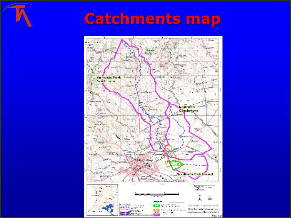 Catchments map