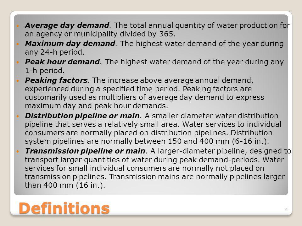 Work Examples – Water Demand 25