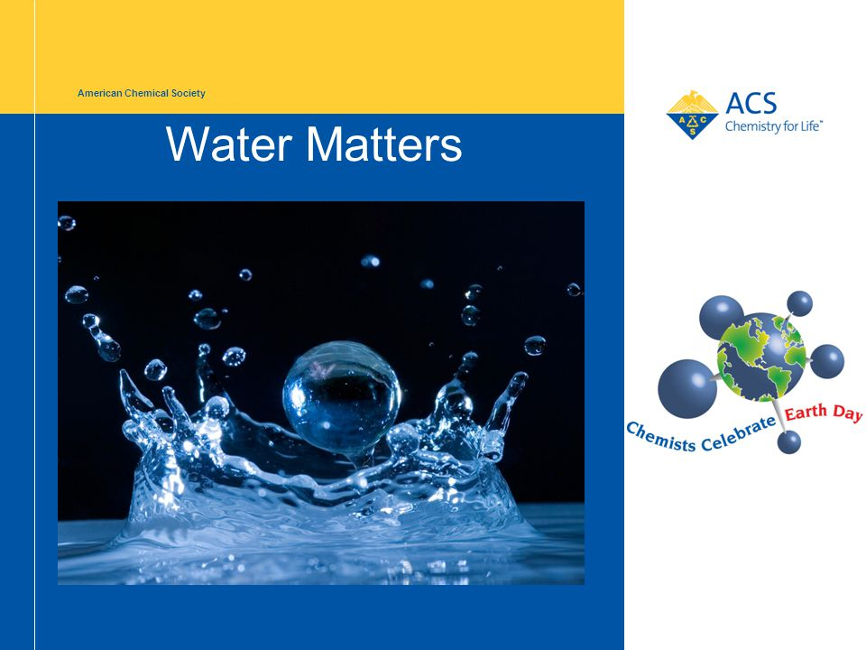 American Chemical Society Water Matters