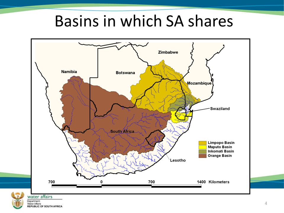 4 Basins in which SA shares