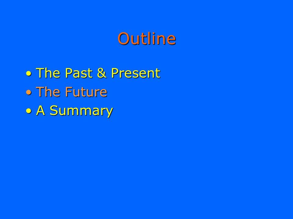 Outline The Past & PresentThe Past & Present The FutureThe Future A SummaryA Summary