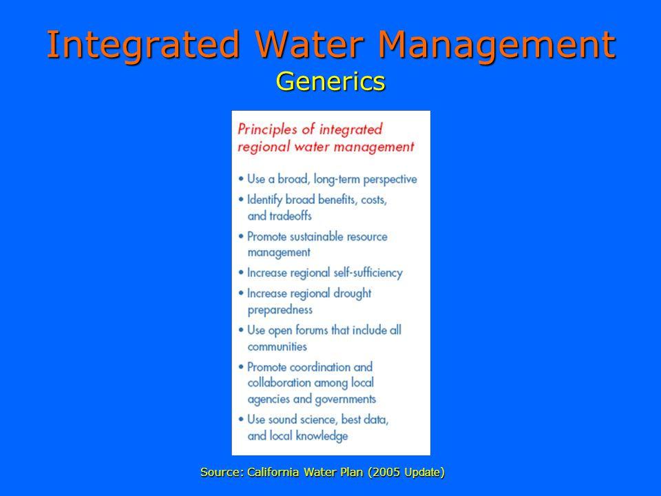 Integrated Water Management Generics Source: California Water Plan (2005 Update )