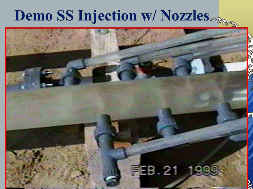 DHS Drinking Water Program 47 Demo SS Injection w/ Nozzles