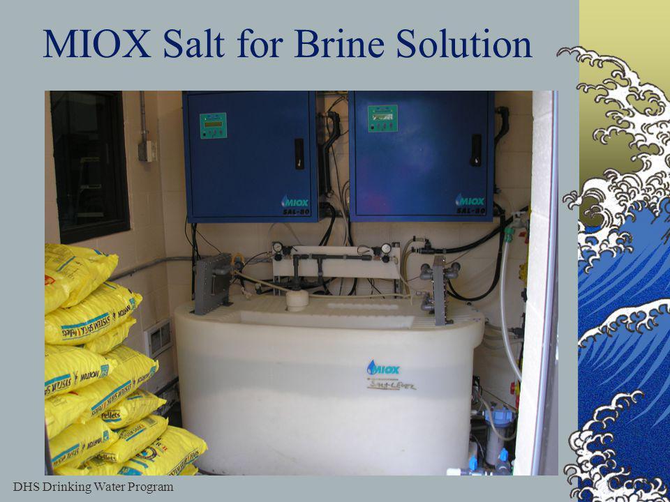 DHS Drinking Water Program 50 MIOX Salt for Brine Solution