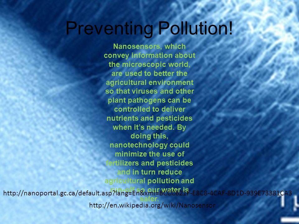 Preventing Pollution.