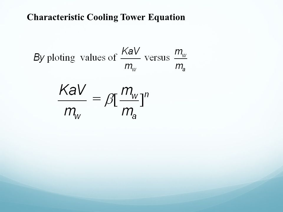 Characteristic Cooling Tower Equation