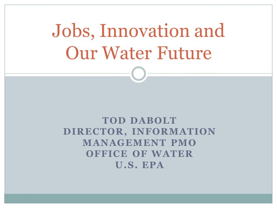 We cannot continue down the historic path of water management and meet Americas future water needs.