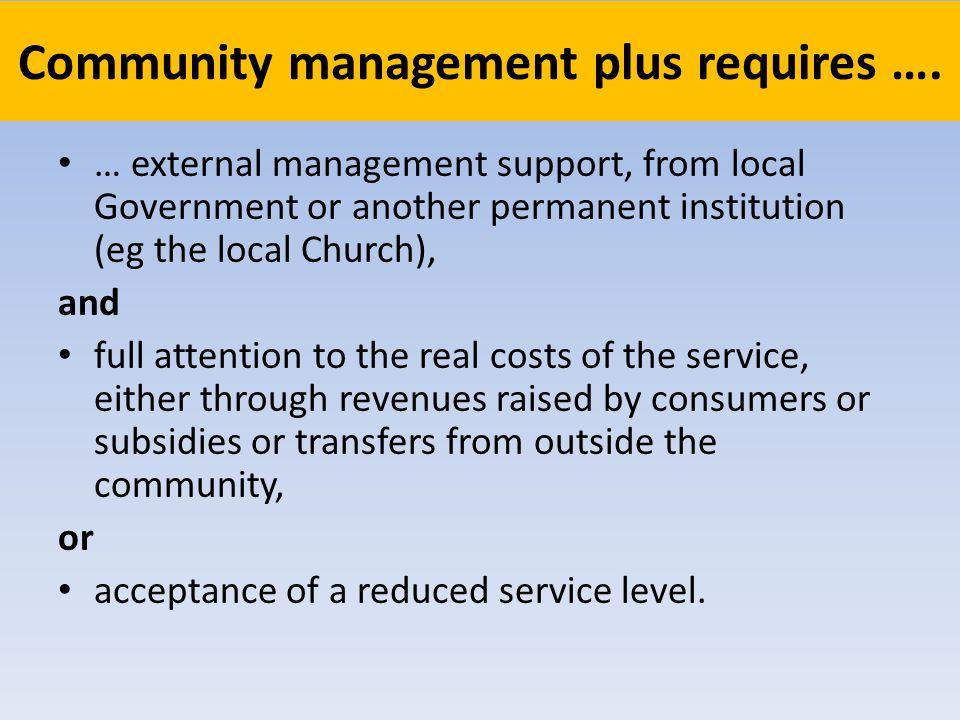 Community management plus requires ….