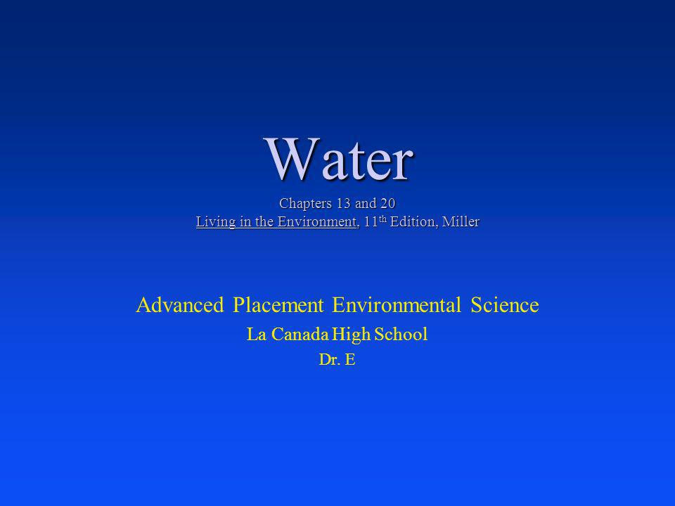 Key H 2 0 Characteristics Water is the prime constituent of all living organisms.