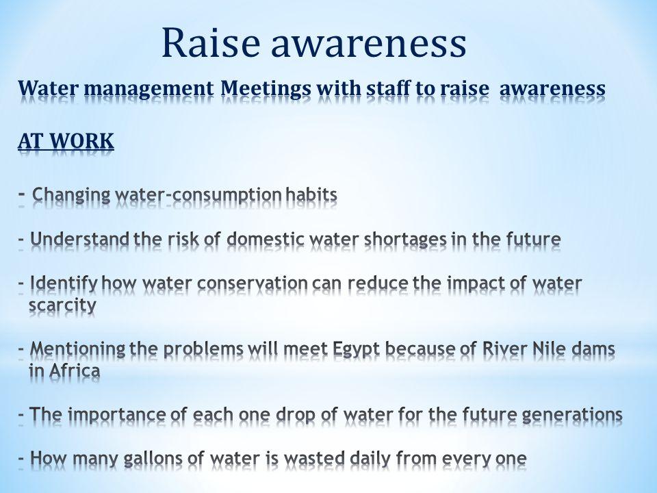 Raise awareness