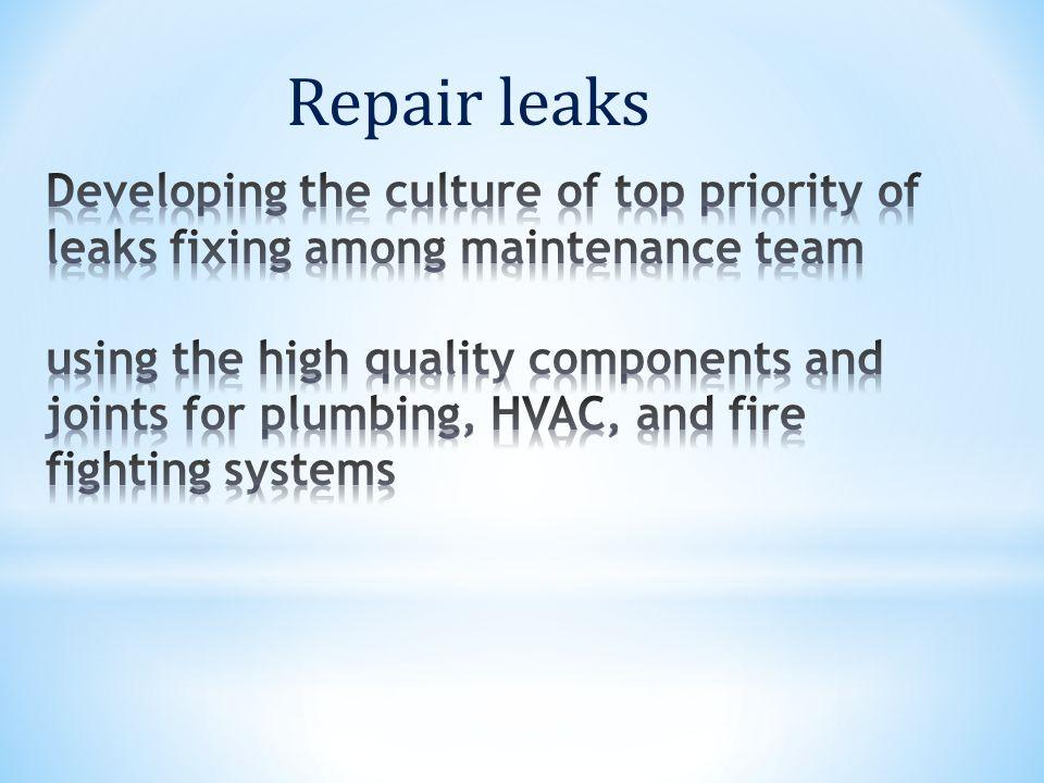 Repair leaks