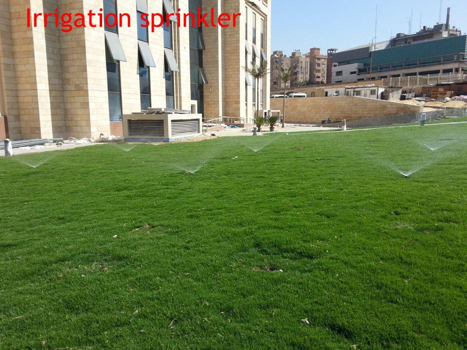 صورة كنترول رى المعادى مع نظام الرى Irrigation sprinkler