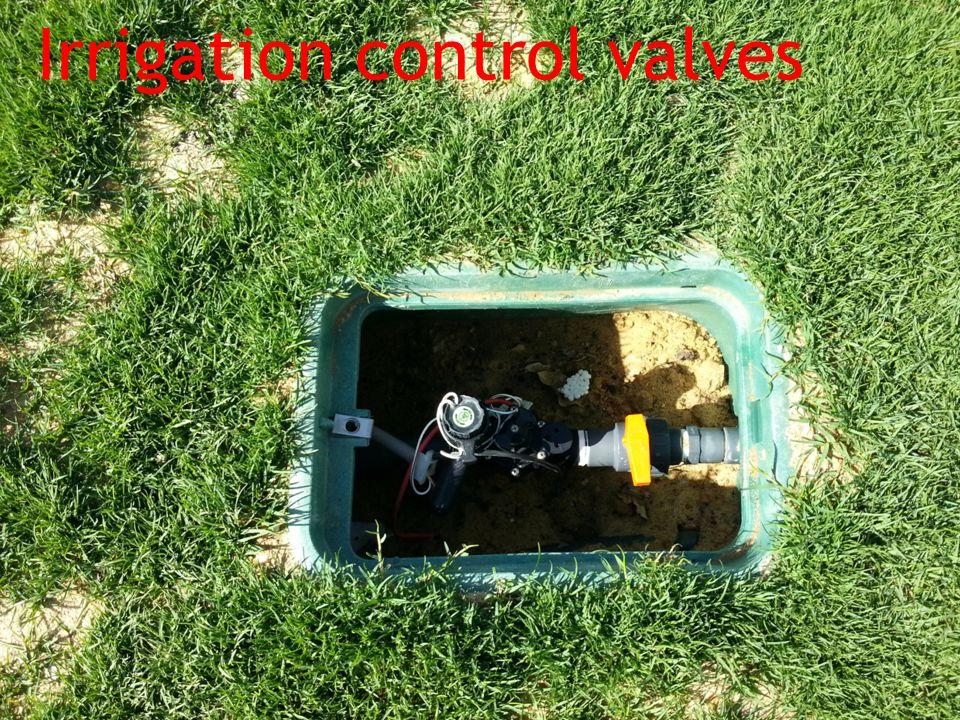 Irrigation control valves