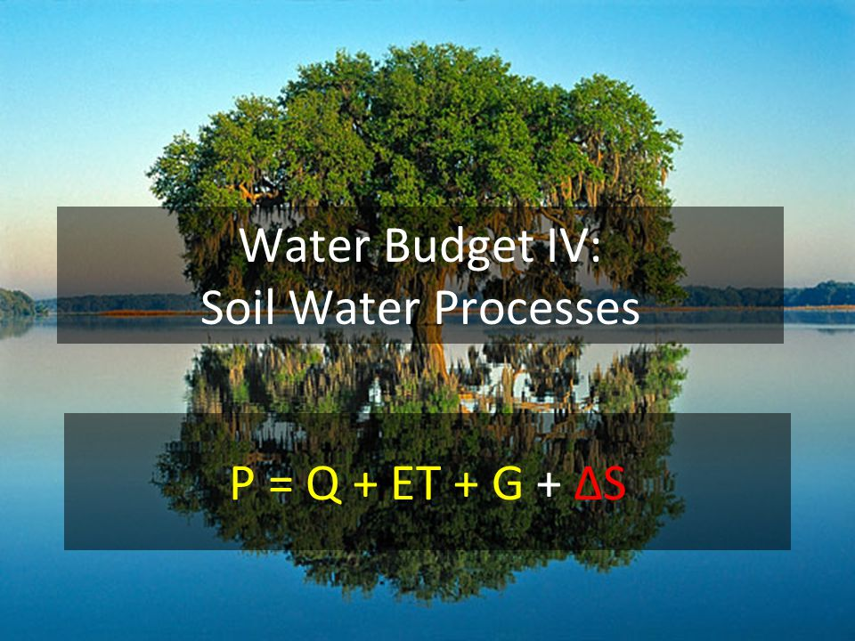 Calculating ΔS from soil moisture data ΔS = storage end – storage begin In this example the watershed soil is 1 meter deep and is unsaturated at end and saturated at beginning.