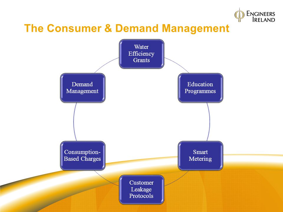 The Consumer & Demand Management Water Efficiency Grants Education Programmes Smart Metering Customer Leakage Protocols Consumption- Based Charges Dem