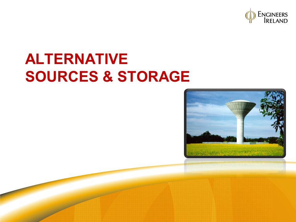 ALTERNATIVE SOURCES & STORAGE