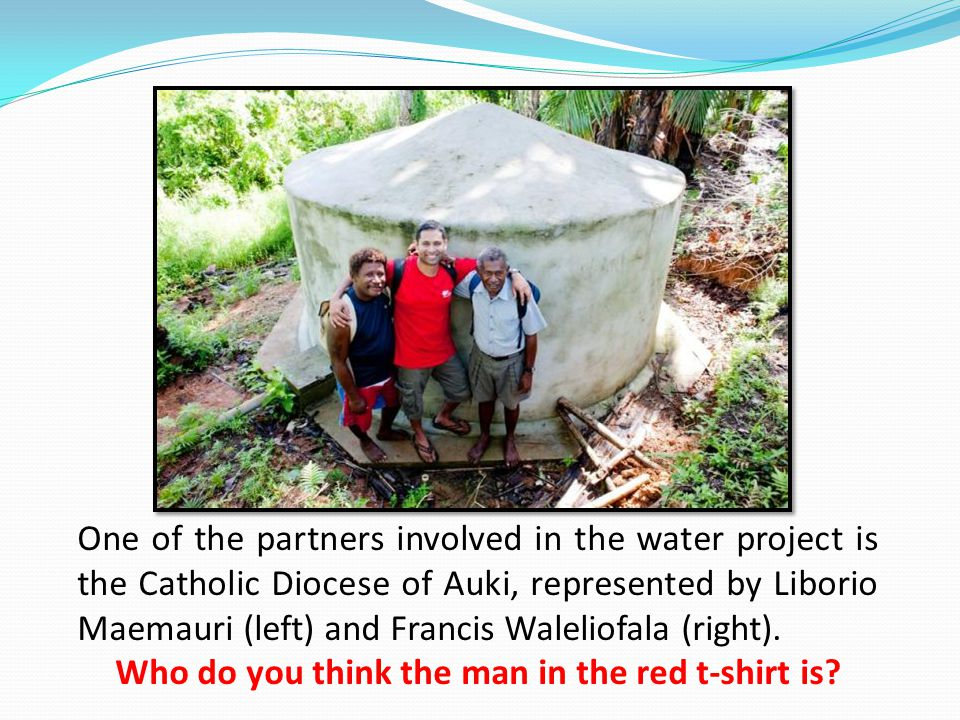Help Caritas continue improving water systems in Auki. Go to www.caritaschallenge.org.nz