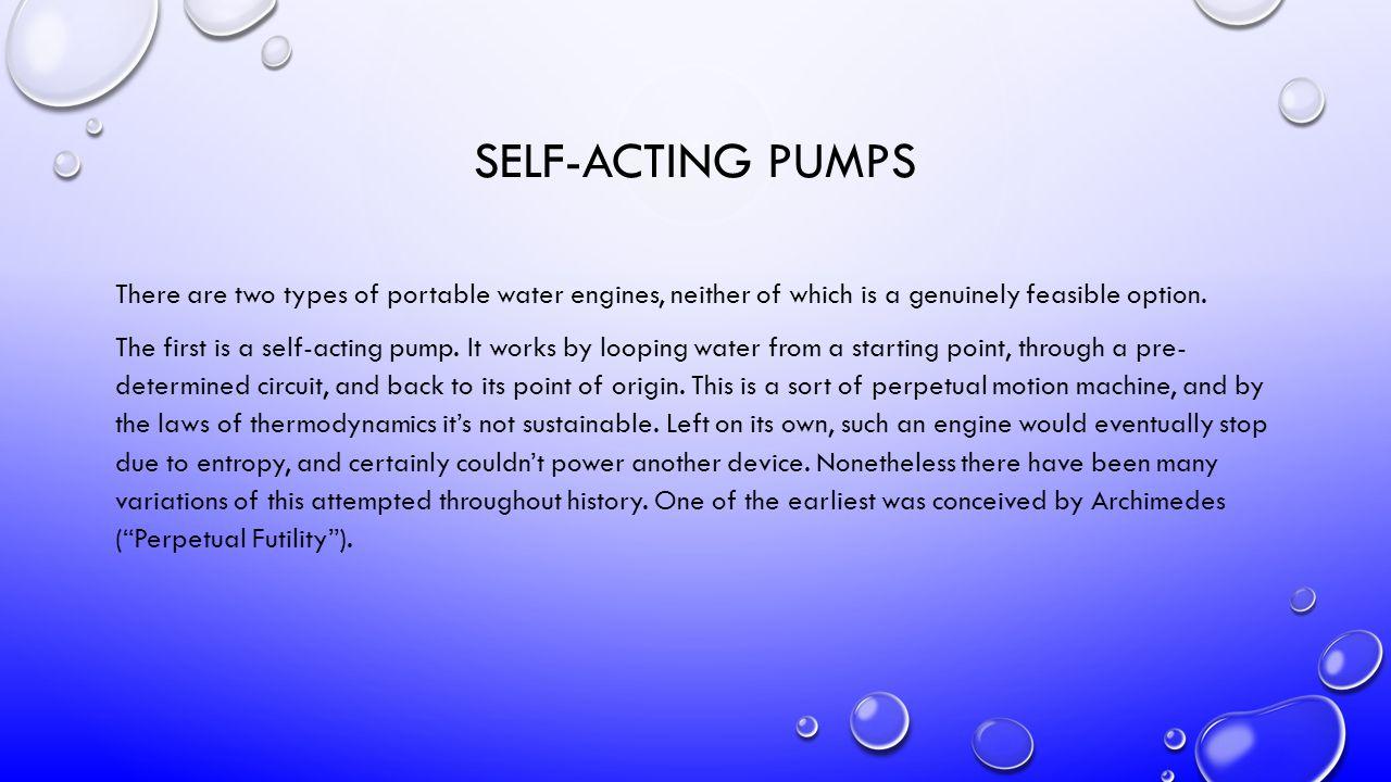 Da Vincis Self-Acting Pump - (Perpetual Futility)