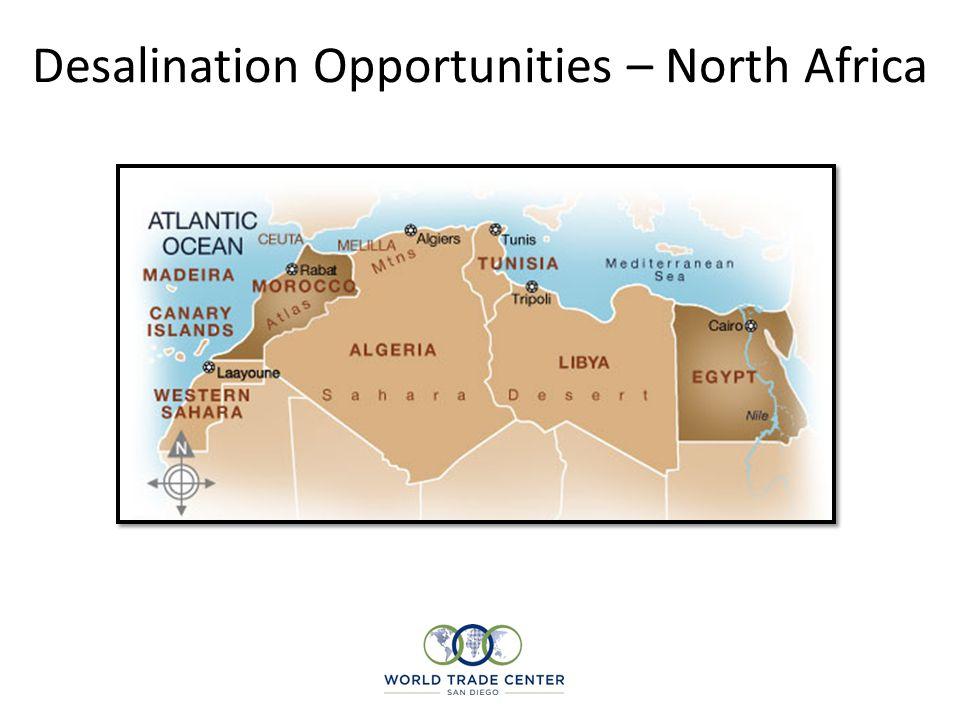 Desalination Opportunities – North Africa