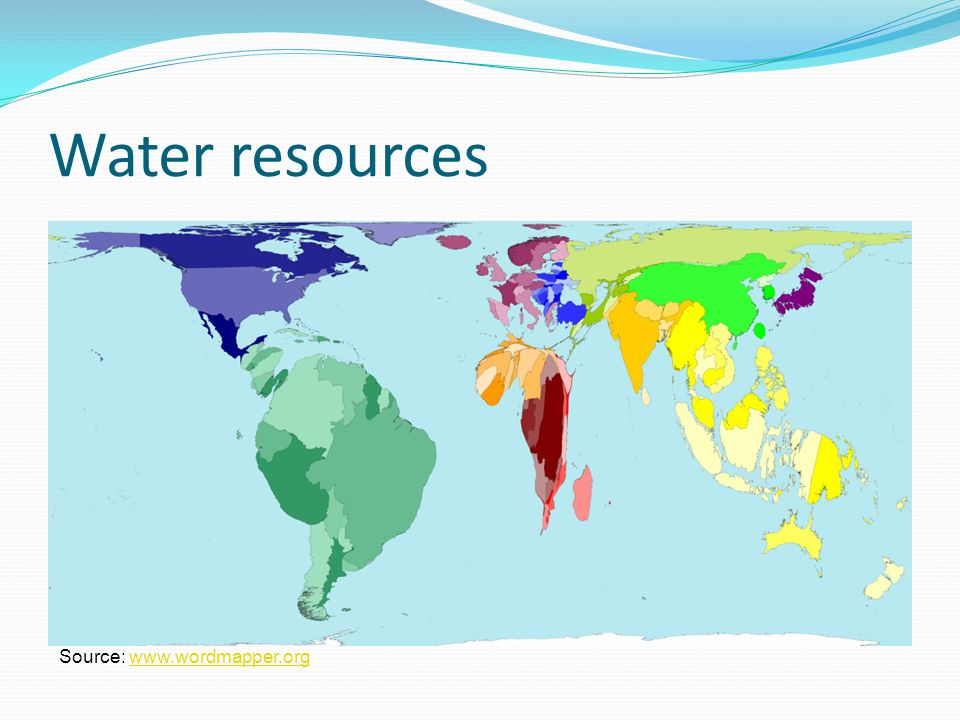 Water use Source: www.wordmapper.orgwww.wordmapper.org