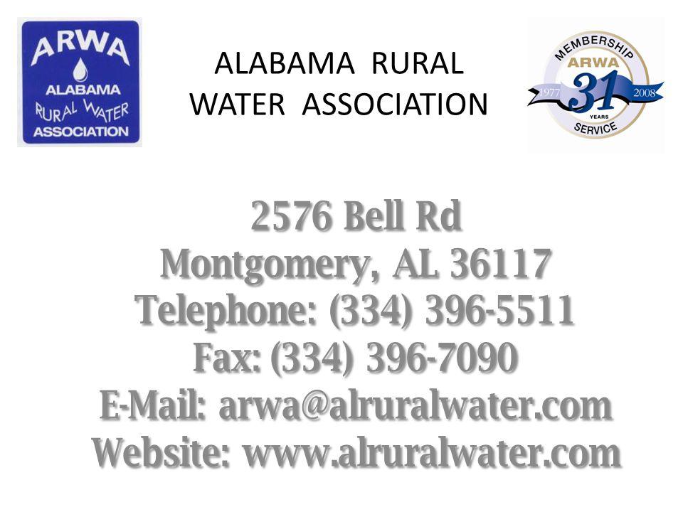ALABAMA RURAL WATER ASSOCIATION
