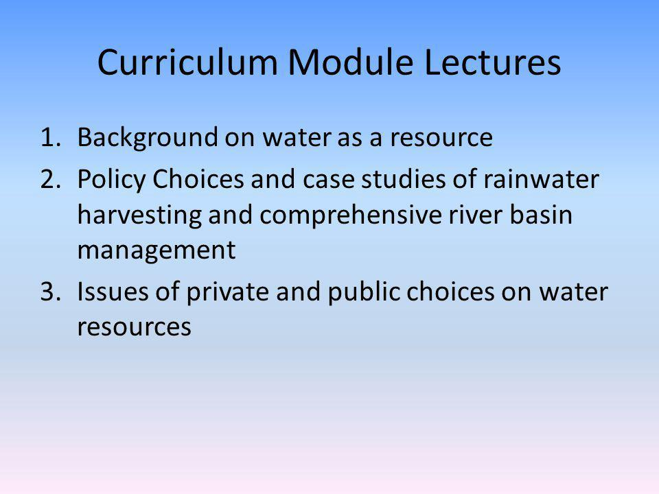 What Is the Role for Private Decisions About Water Resource Use?