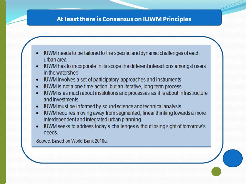 At least there is Consensus on IUWM Principles
