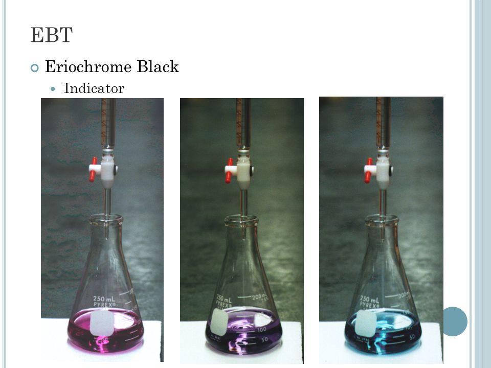 EBT Eriochrome Black Indicator