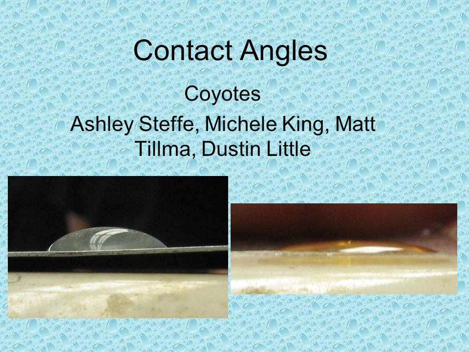 Contact Angles Coyotes Ashley Steffe, Michele King, Matt Tillma, Dustin Little